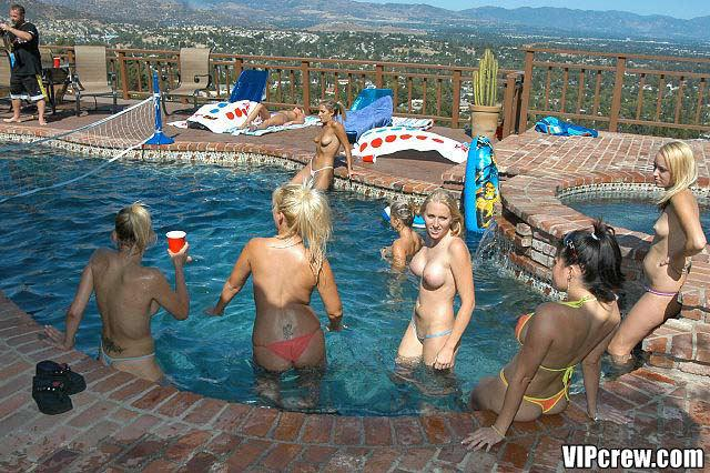Pool parties with hot topless babes - 11