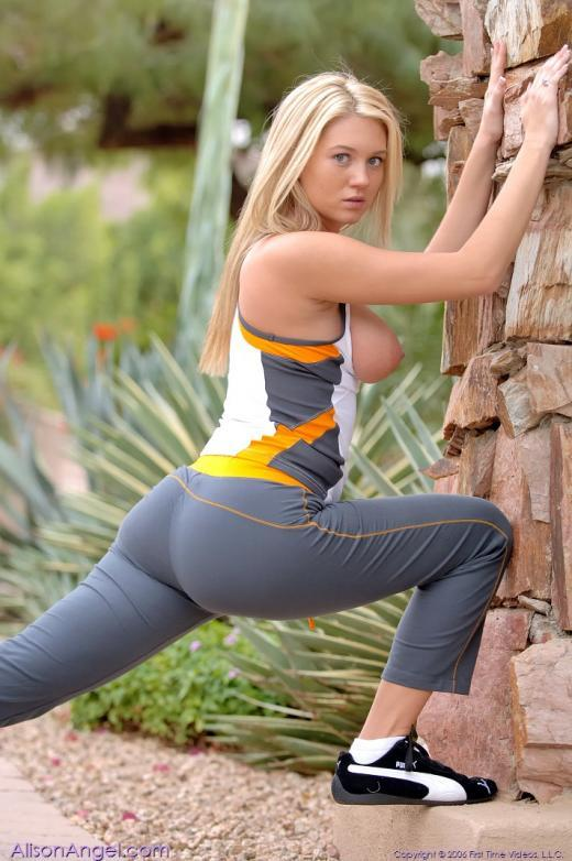 Alison Angel feeling sporty - 3