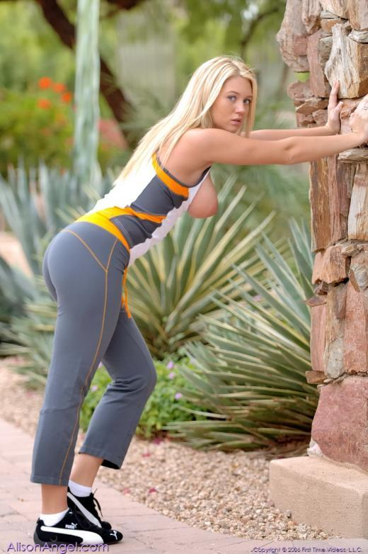 Alison Angel feeling sporty - 5