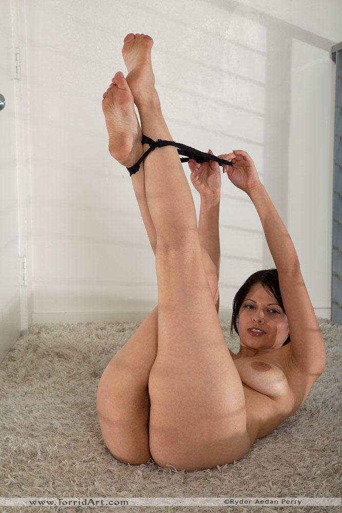Evie Dellatossa black stockings tease - 8