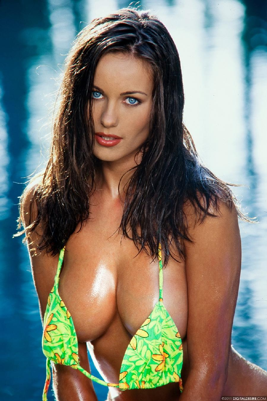 Kyla Cole bikini tease outdoors