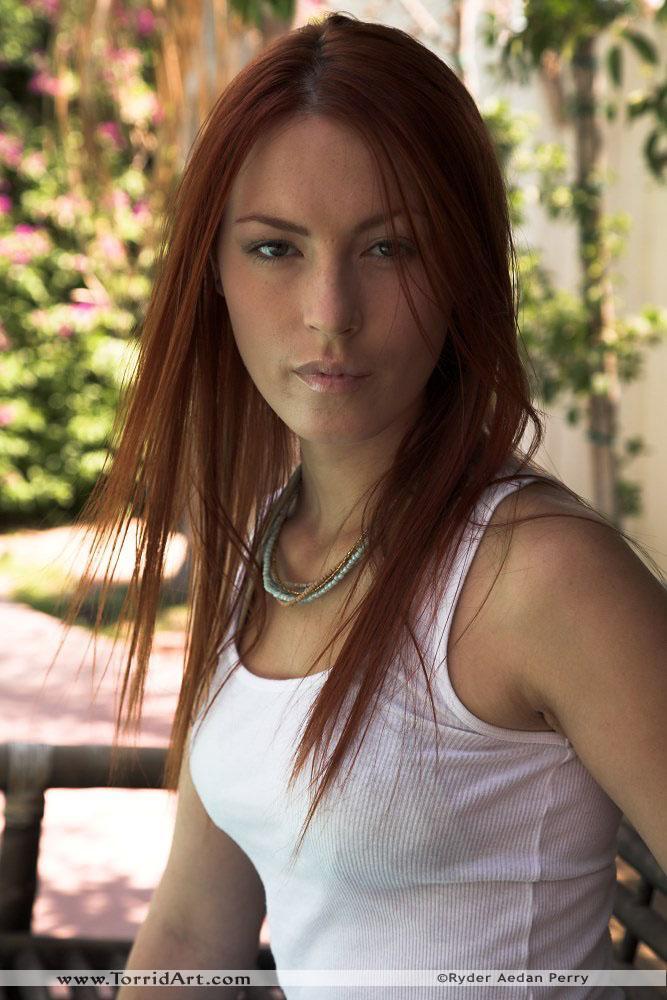 Alexandra Ivy bikini outdoors - 1