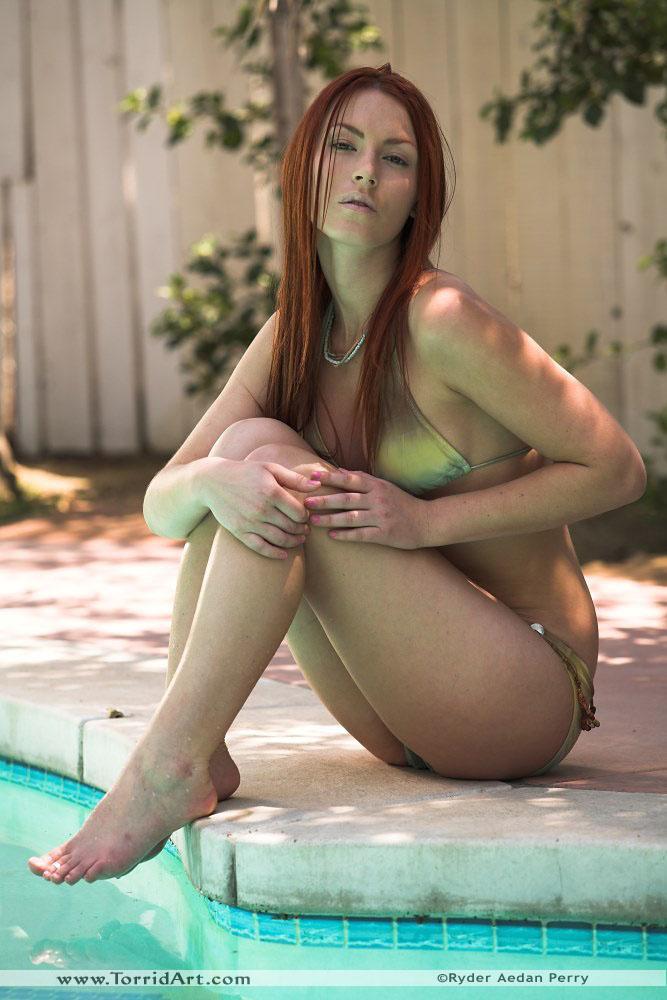 Alexandra Ivy bikini outdoors - 6