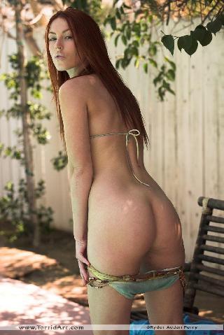 Alexandra Ivy bikini outdoors