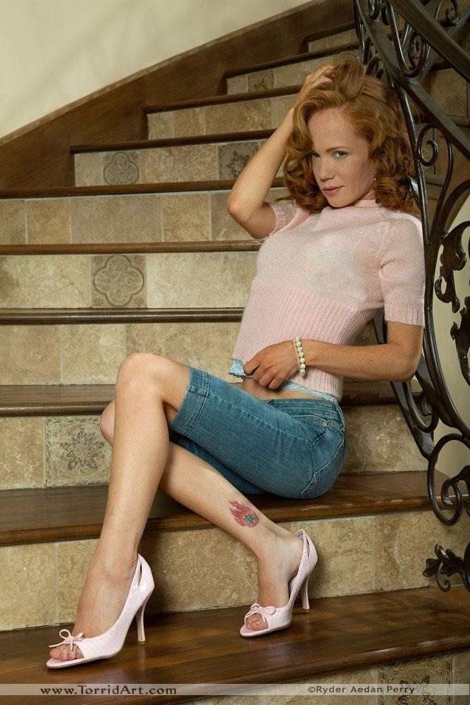 Heather Carolin in pink high heels - 1