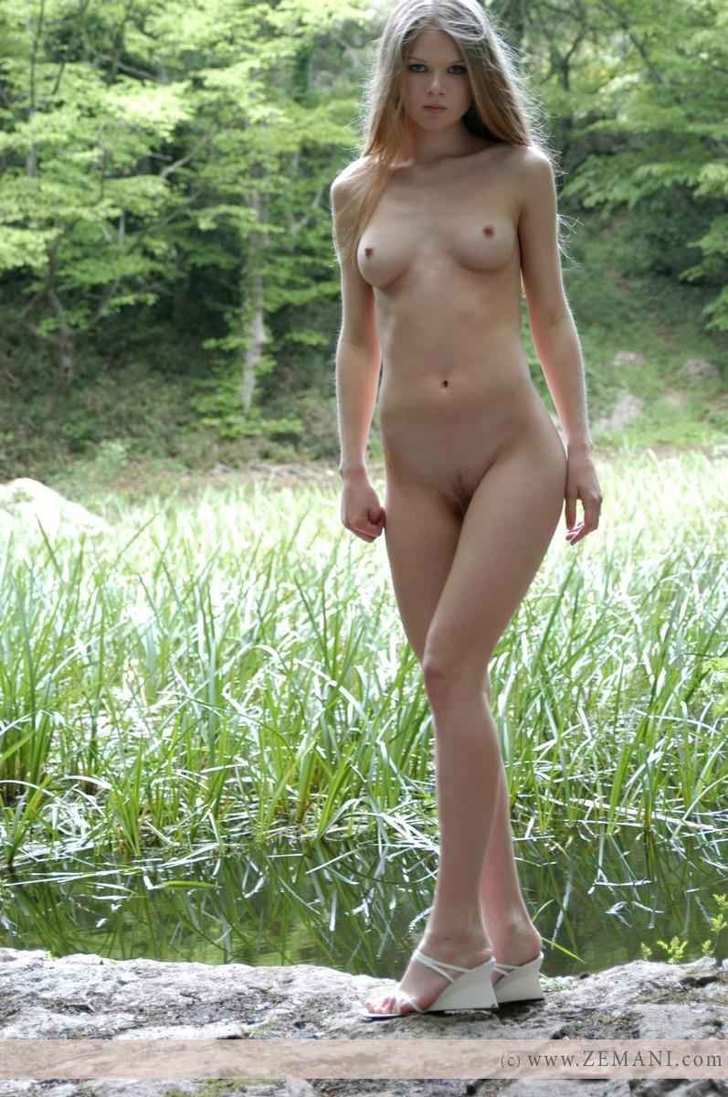 Naked Kasana In The Forest