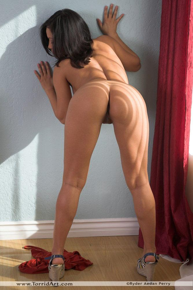 Lana Lopez strip her black thong - 11