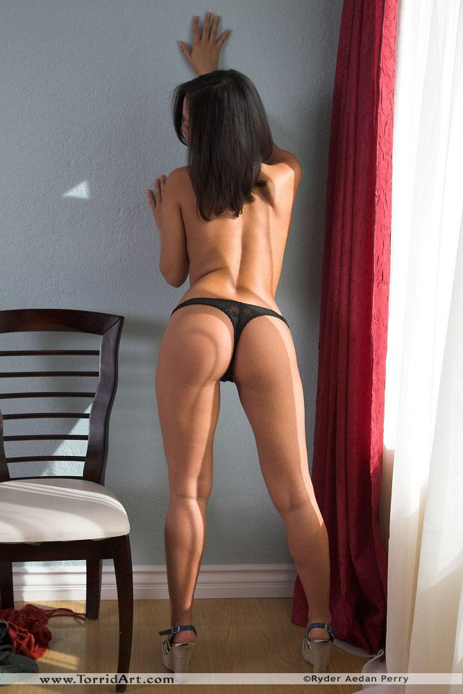 Lana Lopez strip her black thong - 7