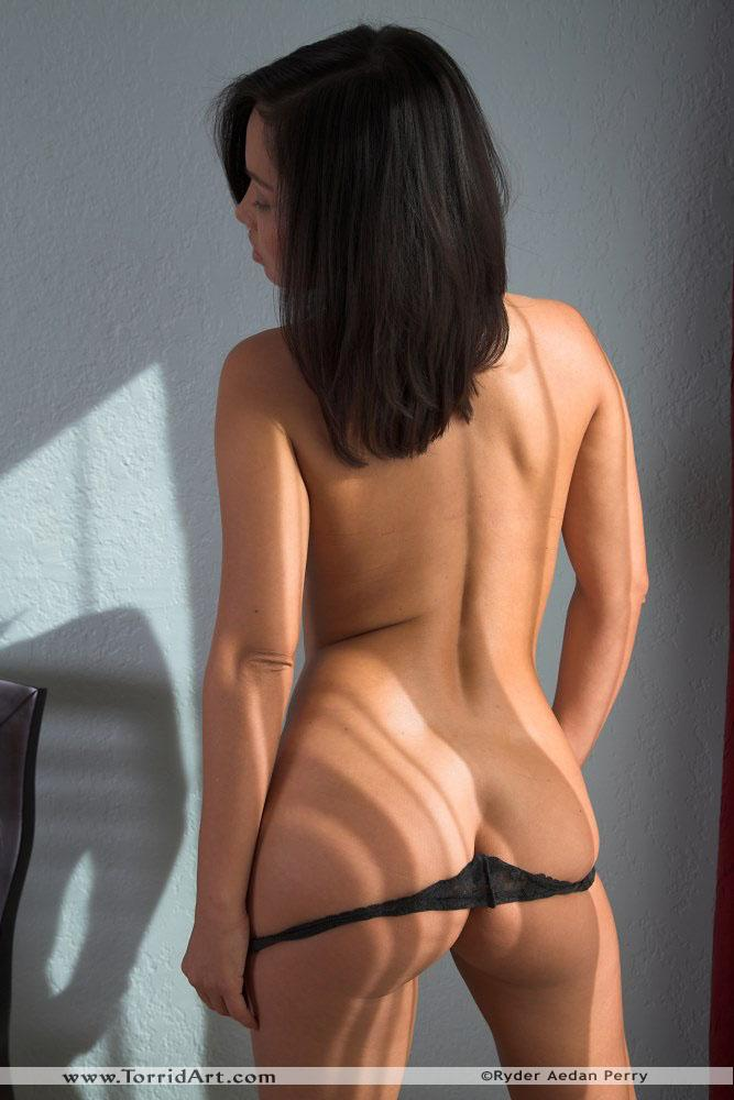 Lana Lopez strip her black thong - 8