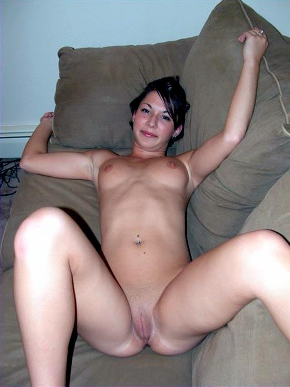 Milf nude on couch