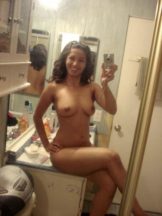 Mirror latina self shot girl