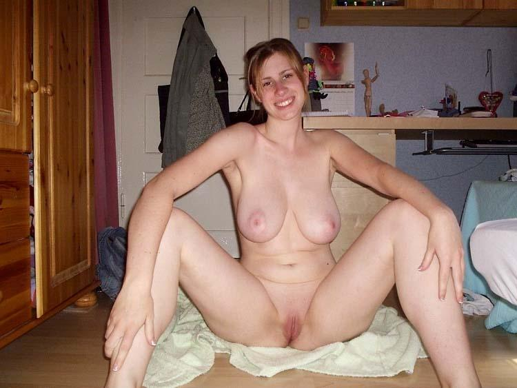 Blossoming beautiful naked women at home