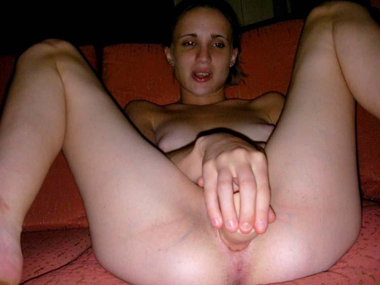 mrs snd spreads teases clit with cock and gets cum on pussy