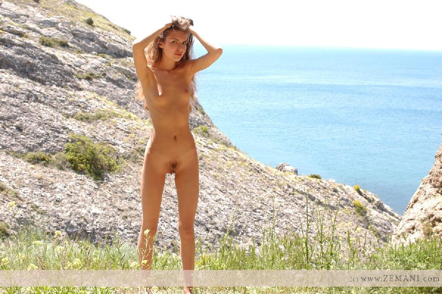 Young Alana on the cliff - 8