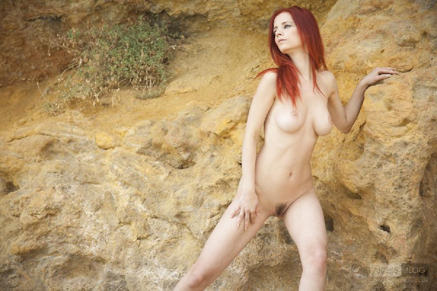 Great red head Ariel on the rock - 7