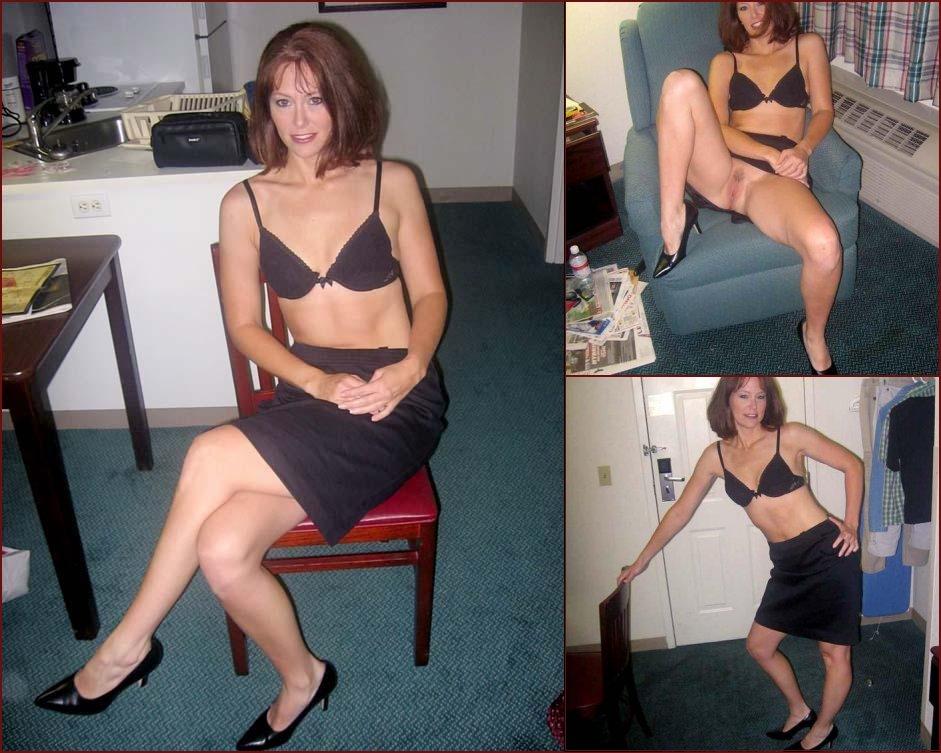 Nice milf shows under her skirt - 21