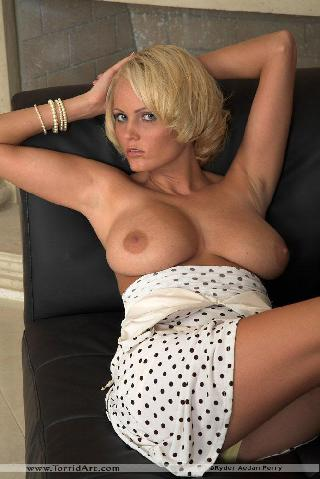Busty blonde in white dress - Hanna Hilton