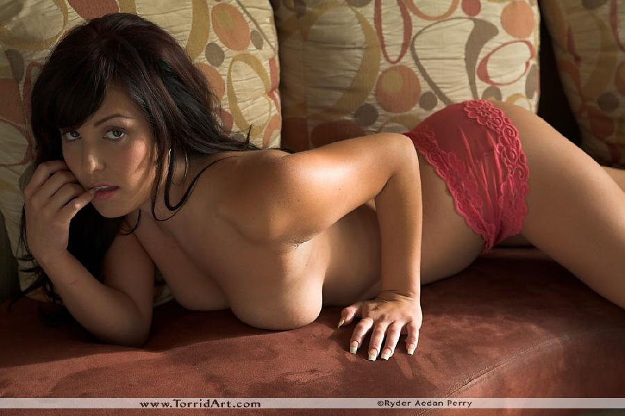 Cute latina on the couch - Valery Vasquez - 12