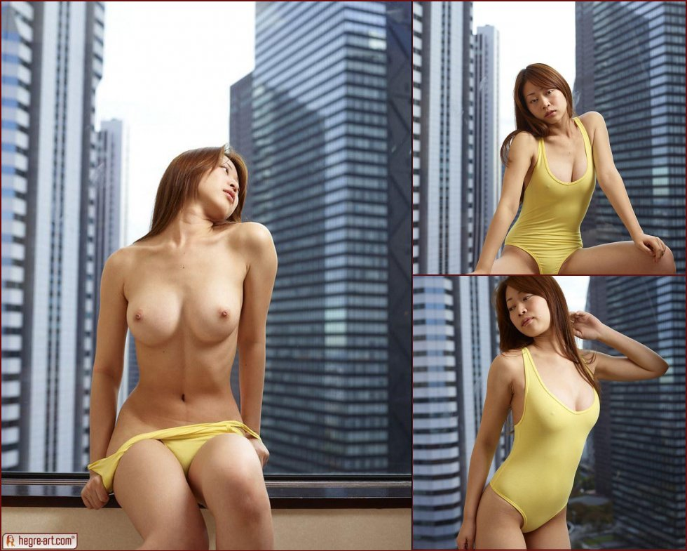 Asian swimsuit model - Rie - 12
