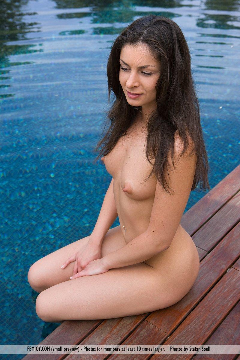 Lucie Lee naked on the dock - 1