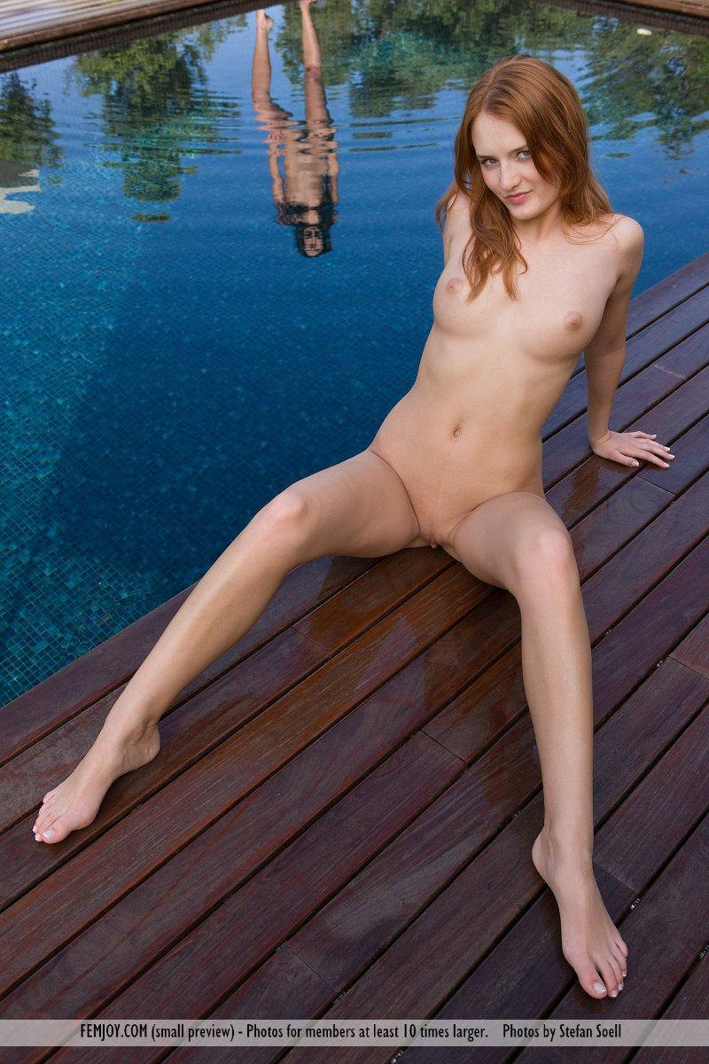 Lucie Lee naked on the dock - 3