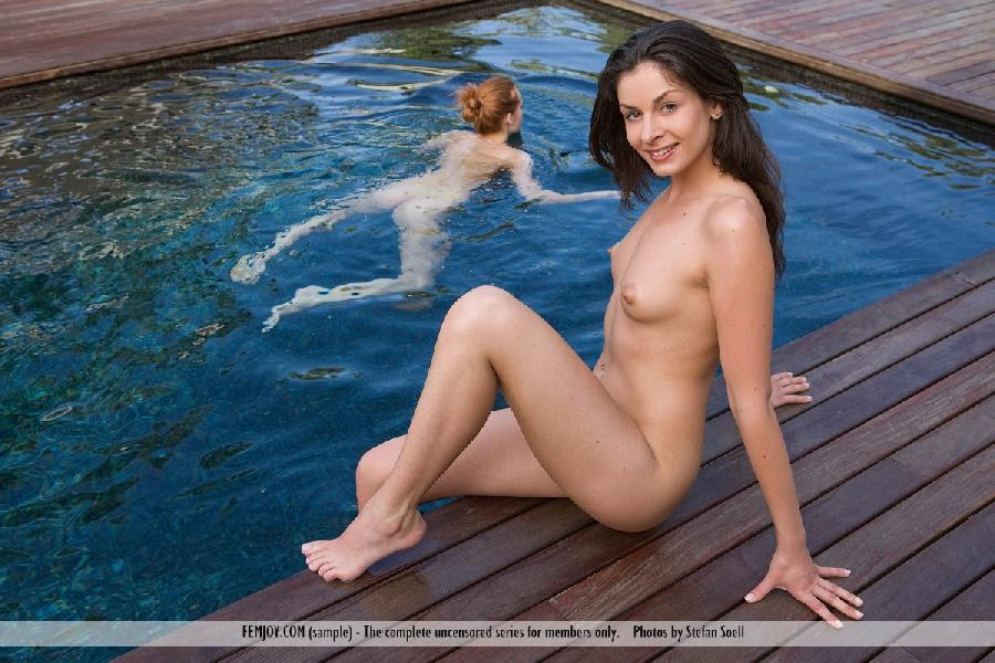 Lucie Lee naked on the dock - 9