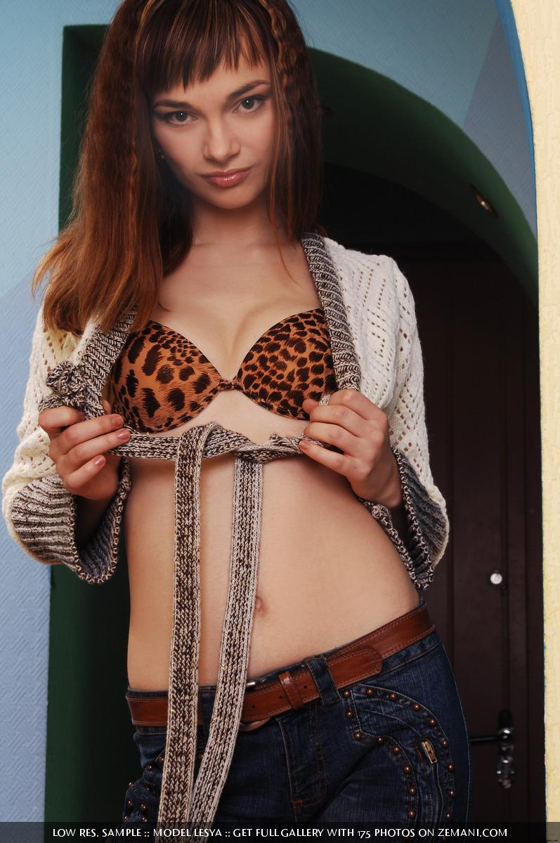 Red-haired naked student girl at home - Lesya - 1