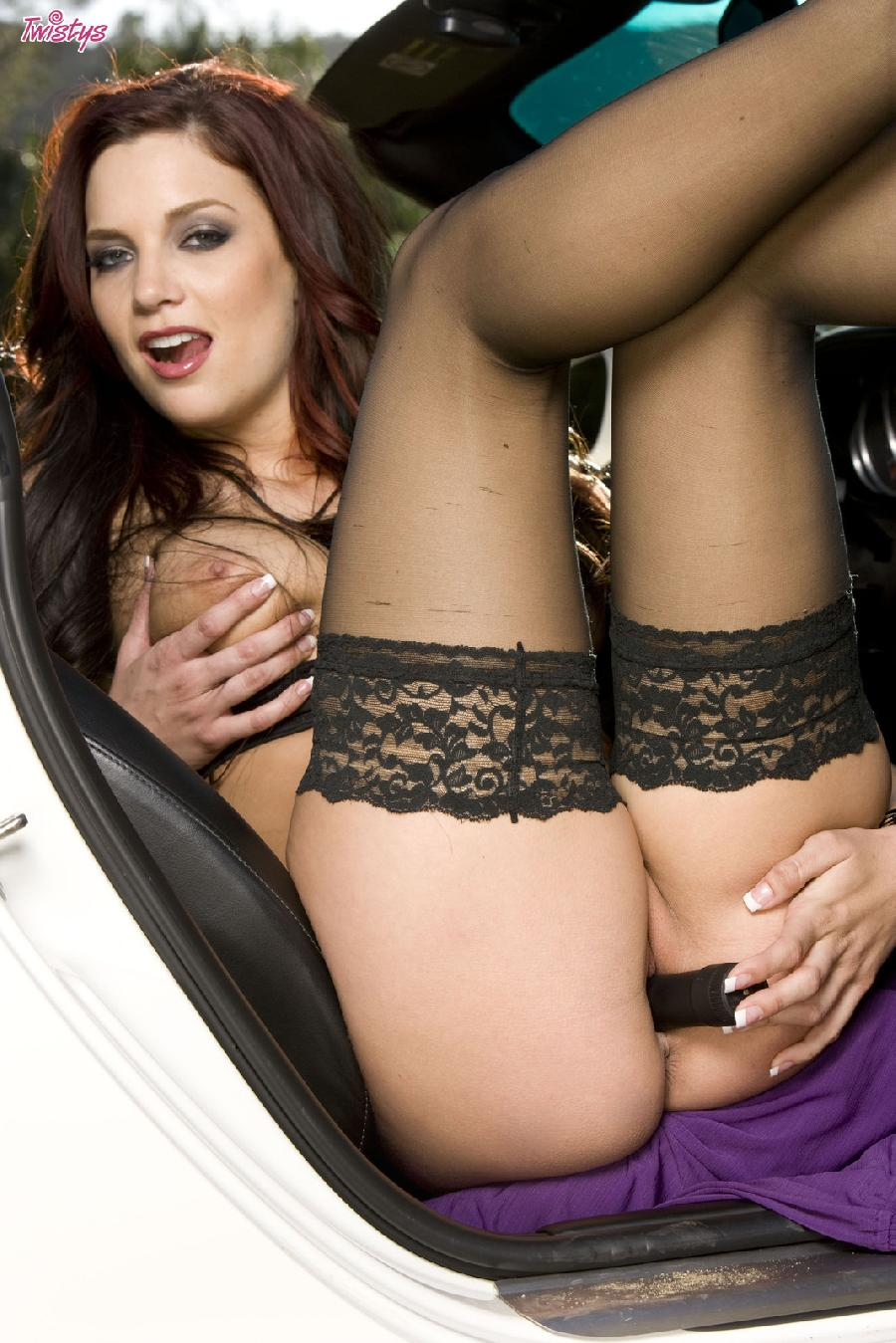 Jayden Cole lace top stockings - 12