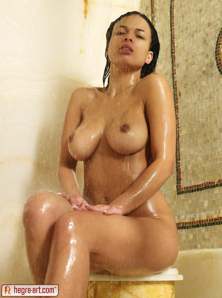 Girl nude in shower