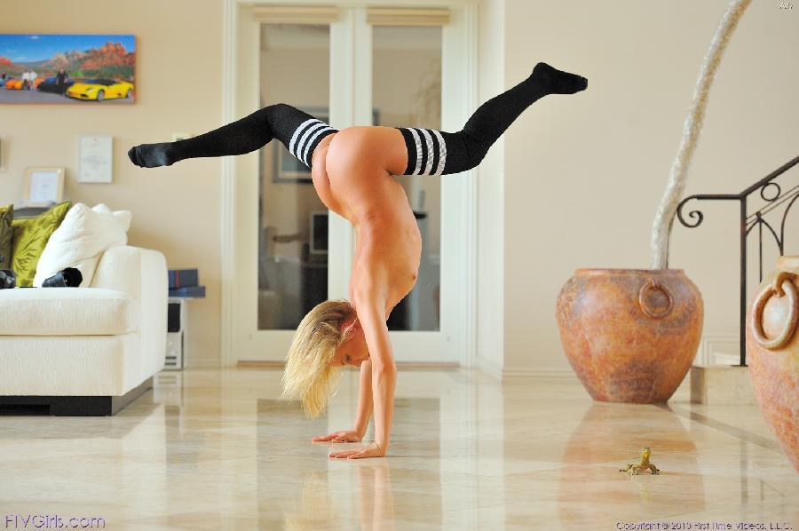 Gymnastics in black socks - Ally Kay - 6