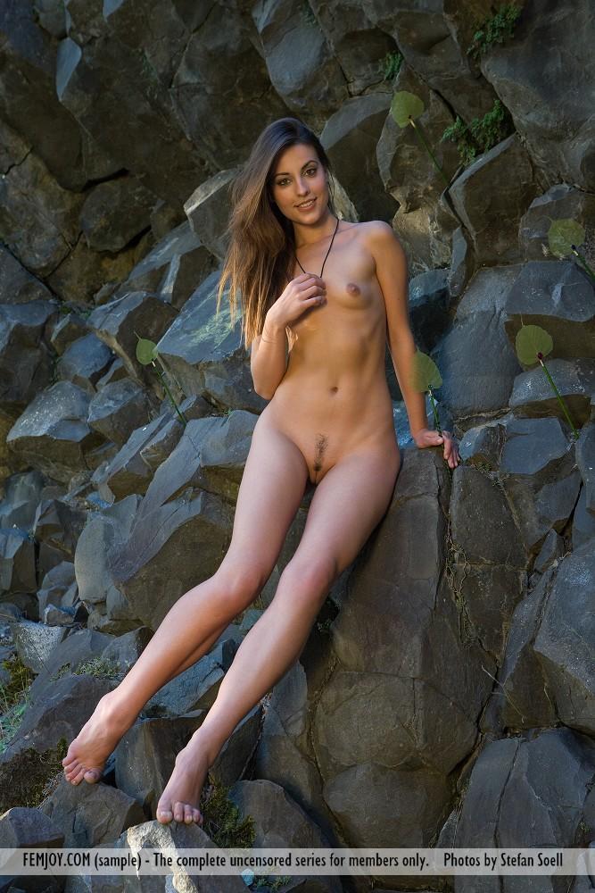 Gorgeous Lorena Garcia nude in the rocks - 2