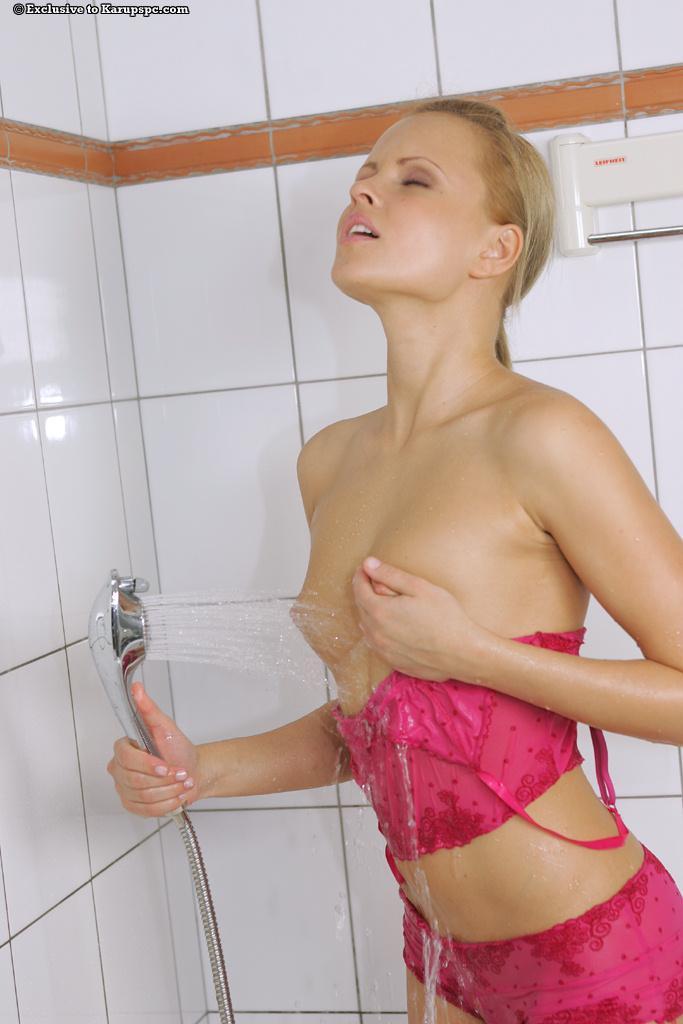 Monica Sweet soaked in shower - 3