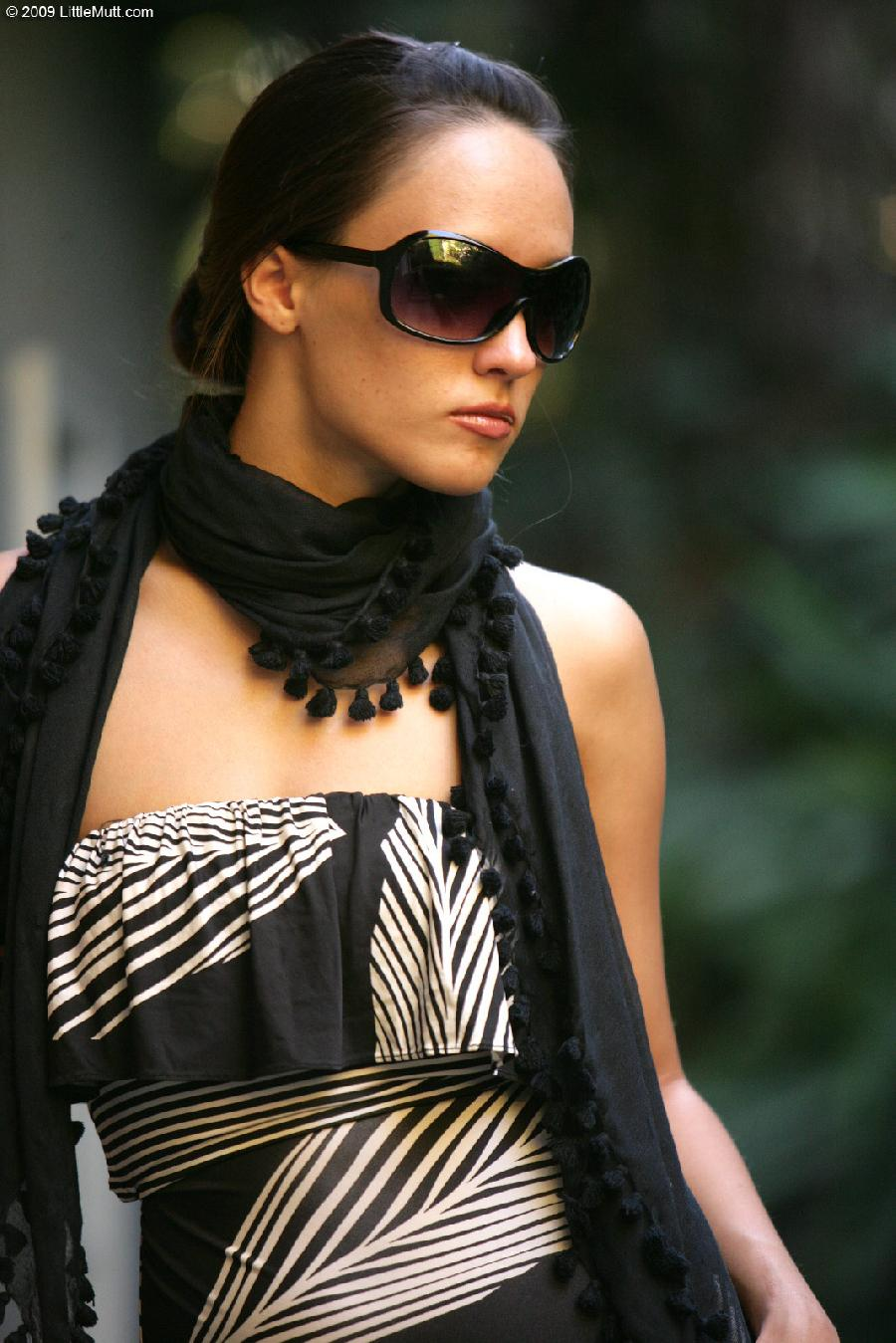 Sexy Nadia Aria in a scarf - 1