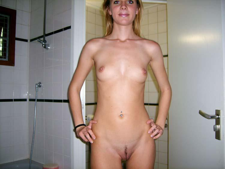 Skinny amateur shows her holes - 2