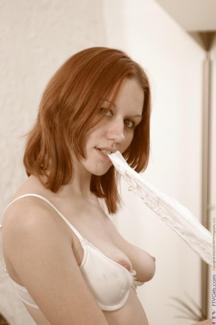 Smokie Flame in a white thong - 5