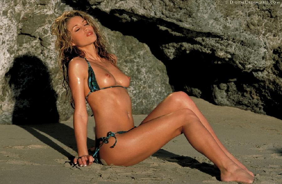 Monique Alexander nude at beach - 1