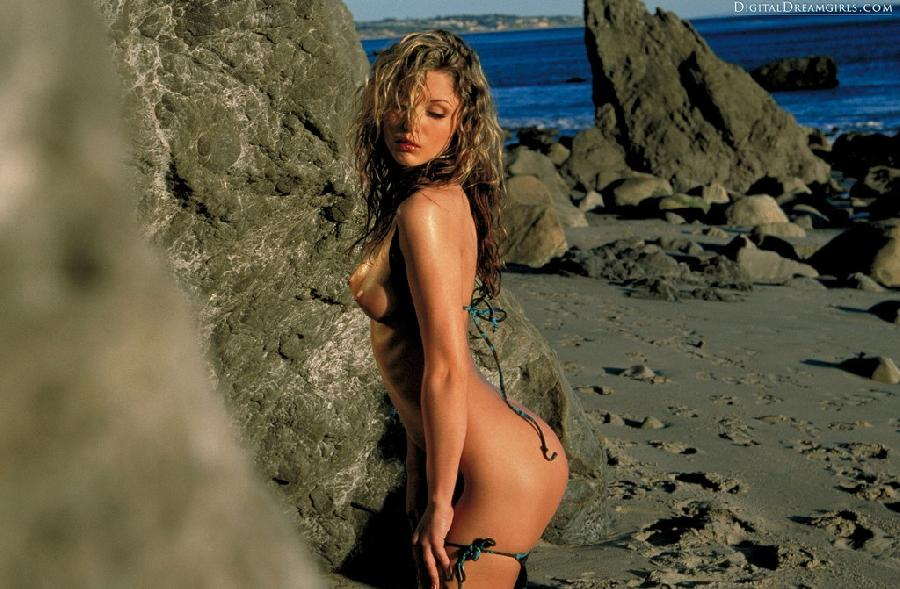 Monique Alexander nude at beach - 4