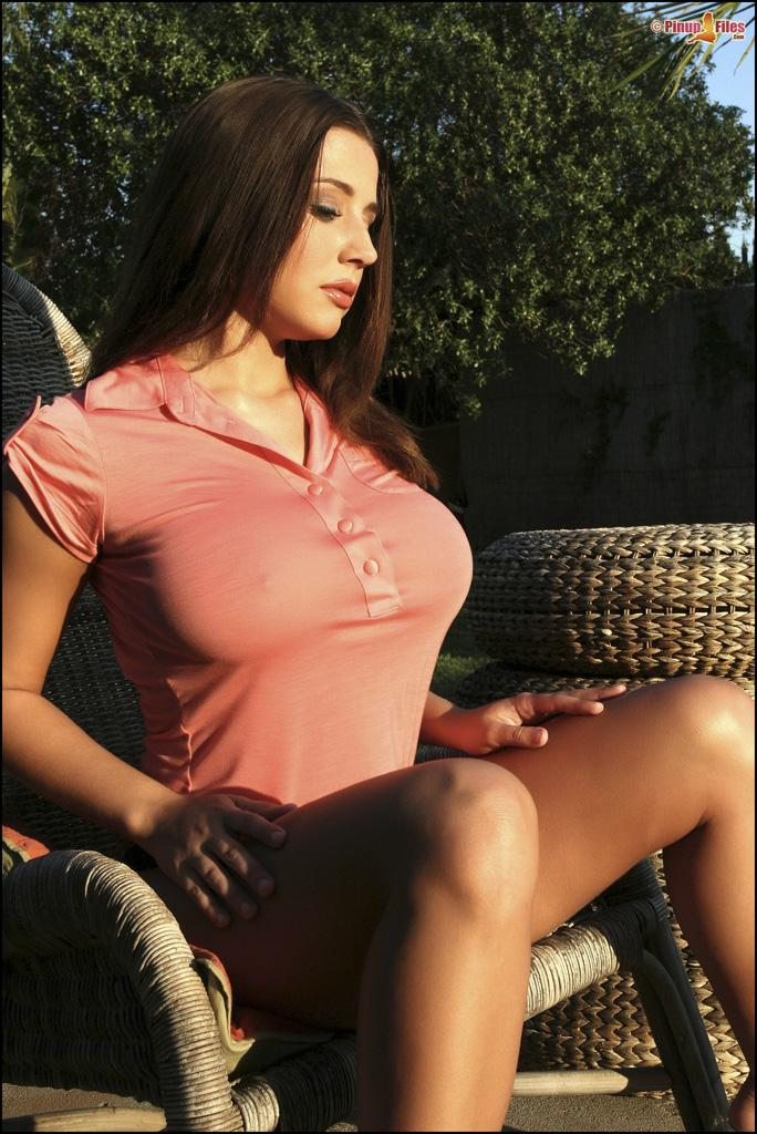 Erica Campbell and her big tits get sun - 1