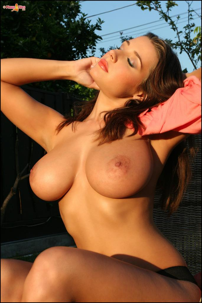 Erica Campbell and her big tits get sun - 10