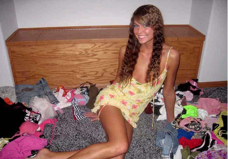 Glamorous brunette being naughty - 4