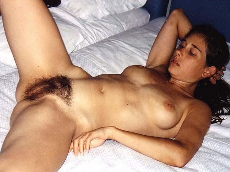 Hairy bush brunette nude