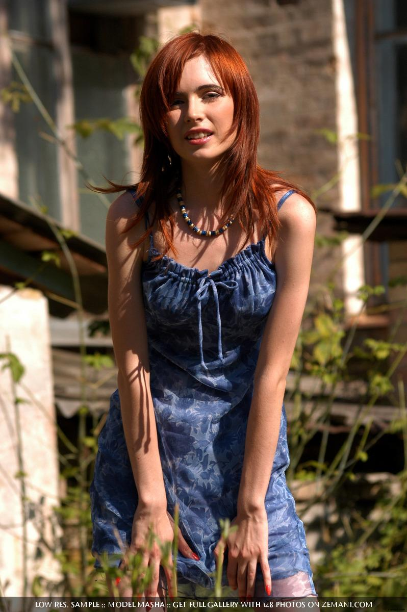 Very gentle and fragile red haired girl - Masha - 1