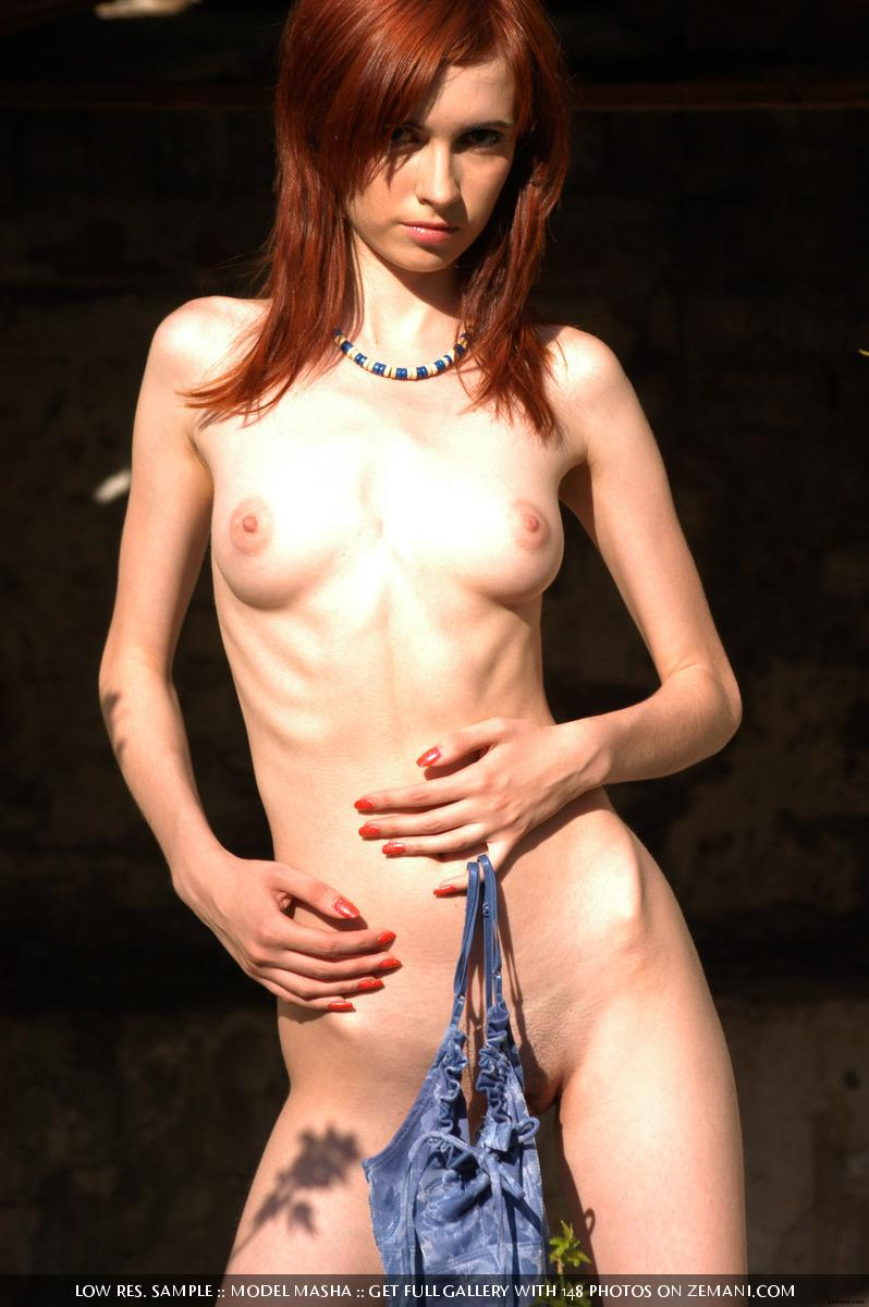 Very gentle and fragile red haired girl - Masha - 15
