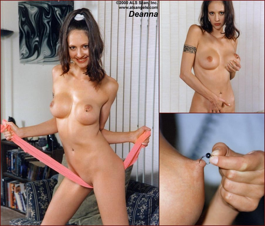 Captivating brunette puts big dildo in to wet pussy - Deanna - 4