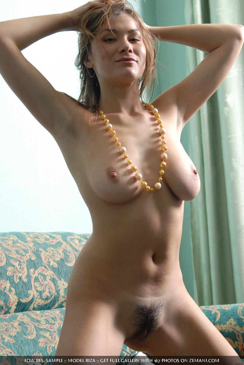 The magnificent and beautiful brunette girl naked after shopping - Riza - 14