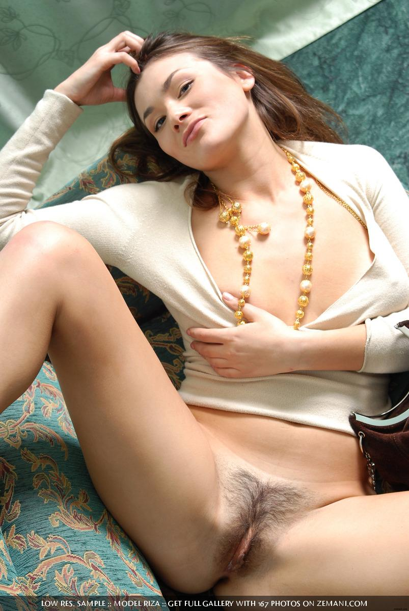 The magnificent and beautiful brunette girl naked after shopping - Riza - 4