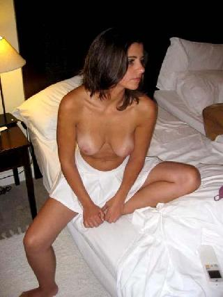 Great pussy under white skirt