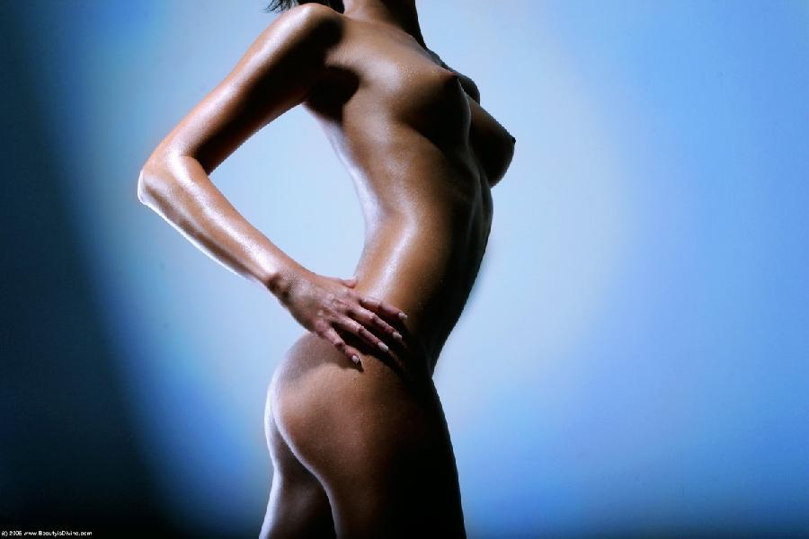 Gaudy set of tits on hot brunette - Nella - 3