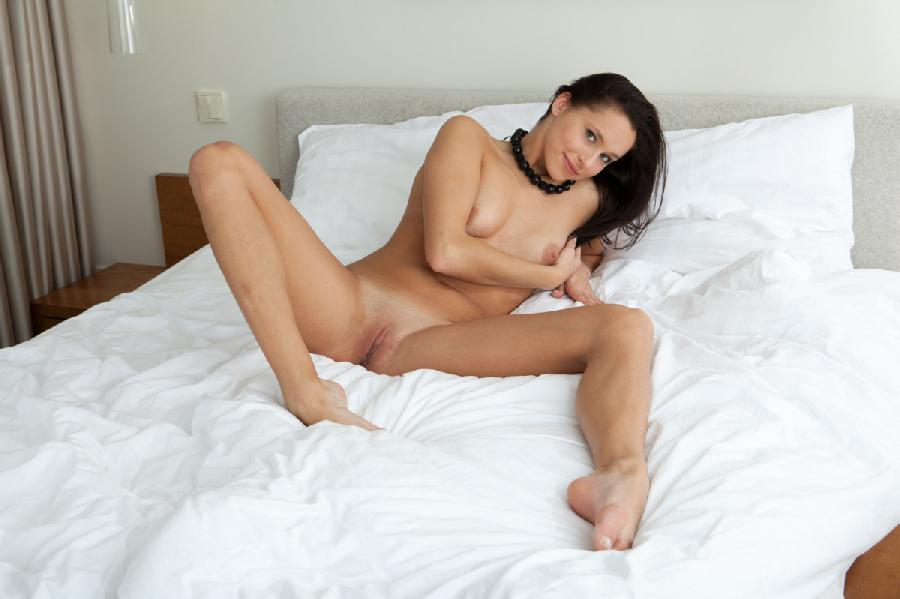 Brunette hottie give us her most indecent poses in bed - Diana G - 12