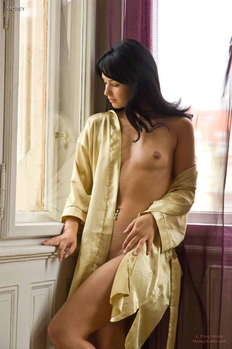 Gorgeous brunette is presenting sweet pussy - Nea - 6
